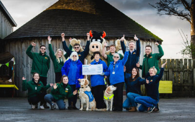 Staffordshire farm attraction raises over £6k for Guide Dogs charity