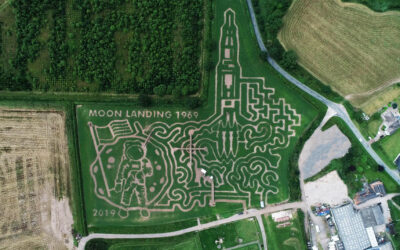 Moon Landing Maize Maze revealed by Staffordshire farm